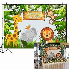 Jungle Safari Photography Backdrop Birthday by Mehofoto Jungle Safari Photo Backdrop Animals Forest