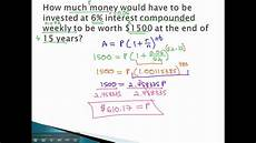 Principle And Interest Calculator Compound Interest Find Principle Youtube