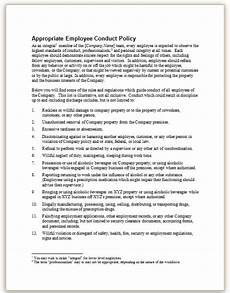 Employee Expectation List This Sample Policy Outlines Company Expectations About