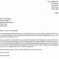 Compliance Cover Letters Compliance Officer Job Application Cover Letter Example