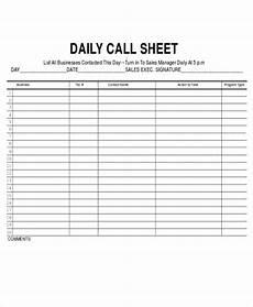 Sales Call Sheets 11 Sales Sheet Templates Free Sample Example Format