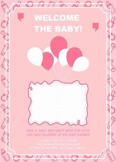 Baby Birthday Invitation Templates Birthday Invitation Template Baby Girl Cards Design