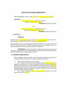 Event Planner Agreement Event Planner Contract M Pinteres