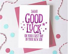 First Day Of Work Advice Good Luck At New Job Personalised First Day At Work Card