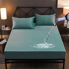 winter warm waterproof flannel bed sheet soft solid