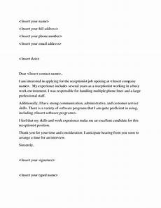 Receptionist Cover Letter With Experience Veterinary Assistant Cover Letter No Experience Mt