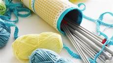 how to make knitting needles storage diy home
