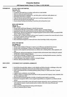 Resume Sample For Driver Roll Off Driver Resume Samples Velvet Jobs