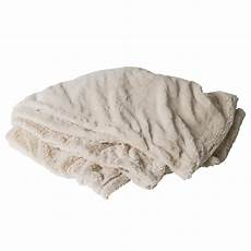 weather or not accessories white faux fur throw