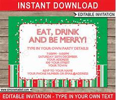 Printable Christmas Party Invitations Free Templates Christmas Party Invitations Template Holiday Party