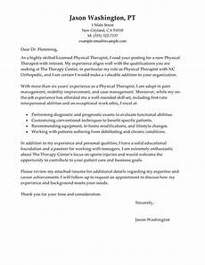 Cover Letter For Therapist Best Physical Therapist Cover Letter Examples Livecareer