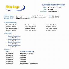 Meeting Agendas 10 Free Meeting Agenda Templates For Microsoft Word