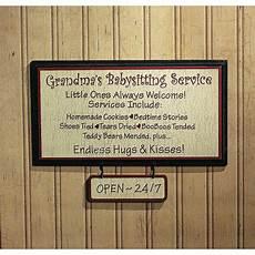 Babysitting Sign Grandma S Babysitting Service Sign Orientaltrading Com