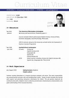 Sample Of A Cv Format Cv Sample Fotolip Com Rich Image And Wallpaper