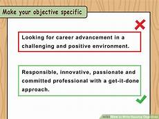 What To Write In Career Objective In Resume How To Write Resume Objectives With Examples Wikihow