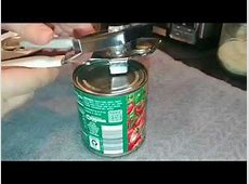 The proper way to use the Can Opener! You have been using