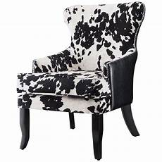 black white accent chair coaster cowhide print accent chair in black and white 902169