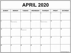 2020 Calendar With Holidays Printable April 2020 Calendar With Holidays