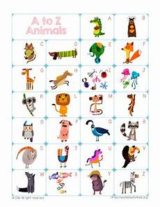 Animal Chart For Kindergarten Free Printable Abc Chart Money Saving 174 Money