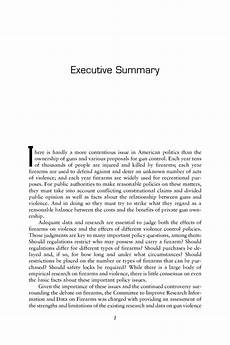 executive summary of books executive summary firearms and violence a critical