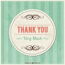 thank you card template free vector thank you vintage card with ornaments vector free