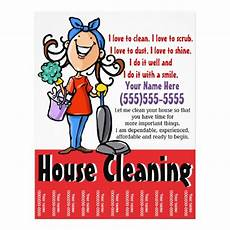 Cleaning Flyer Ideas House Cleaning Marketing Flyer Zazzle