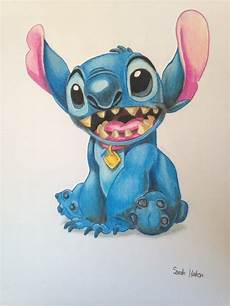 items similar to original stitch colored pencil drawing