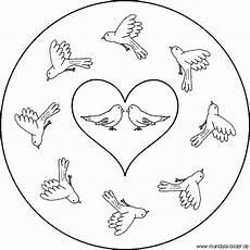 Malvorlagen Meerjungfrau Romantik Mandala Vogel Malvorlage Mit V 246 Geln Voller Romantik Und
