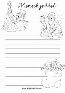 ausmalbilder weihnachten wunschzettel malvorlagen