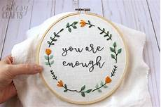 you are enough free embroidery pattern the polka