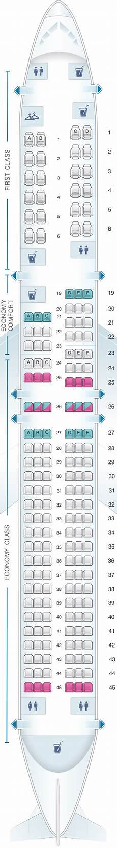 Delta Airlines Seating Chart Seat Map Delta Air Lines Boeing B757 200 757 Seatmaestro