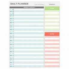 Hourly Daily Planner Excel Daily Hourly Planner Printable Amp Editable Daily