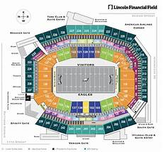 Eagles Stadium Seating Chart Seating Bowl Diagram Lincoln Financial Field