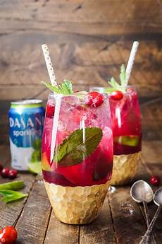 cranberry mojito punch cocktail recipe sugar soul