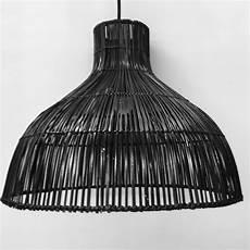Black Rattan Ceiling Light Black Rattan Pendant Light