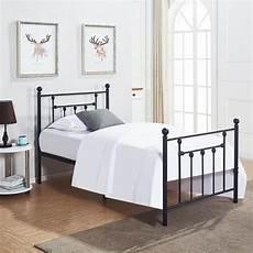 size bed frame vecelo metal platform mattress