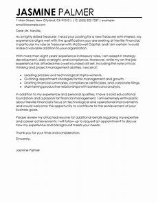 Assistant Treasurer Cover Letter Best Treasurer Cover Letter Examples Livecareer