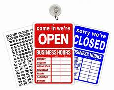 Closed For Business Sign Open Closed Business Hours Sign And Stickers For Store