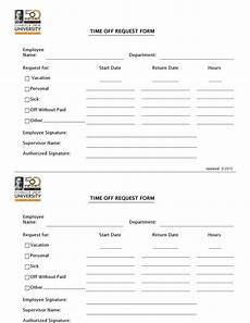 Time Off Request Form Template 40 Effective Time Off Request Forms Amp Templates