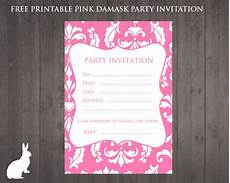 Pink Party Invitations Free Pink Damask Party Invitation Free Party Invitations