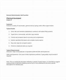 Clerical Duties Of A Medical Assistant 15 Clerk Job Descriptions Pdf Doc Free Amp Premium