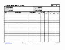 Recording Track Sheet Office Process Recording Sheet