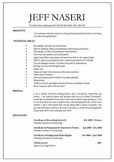 Example Of How To Write A Resumes Panel Beater Jobs Resume Http Resumesdesign Com Panel