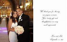 Wedding Thank You Card Examples Wedding Photography And Cinematography Wedding Thank You