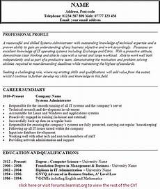 Admin Cv Examples Uk Systems Administrator Cv Example Learnist Org