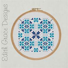winter geometric embroidery pattern