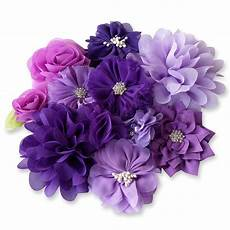 fabric crafts flowers purple fabric flowers craft glue sew on embellishment