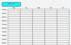 College Class Schedule Maker Template Weekly Schedule Maker Task List Templates
