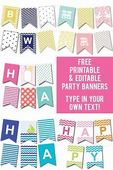 Make Happy Birthday Banner Online Free Lots Of Free Printable Party Banners From Chicfetti You