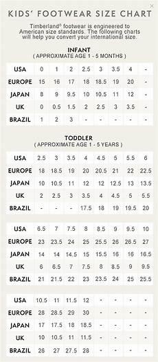 Boden Kids Size Chart Kids Footwear Size Chart Timberland